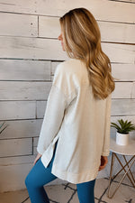Nothing But Yours Long Sleeve Pullover Top : Oatmeal