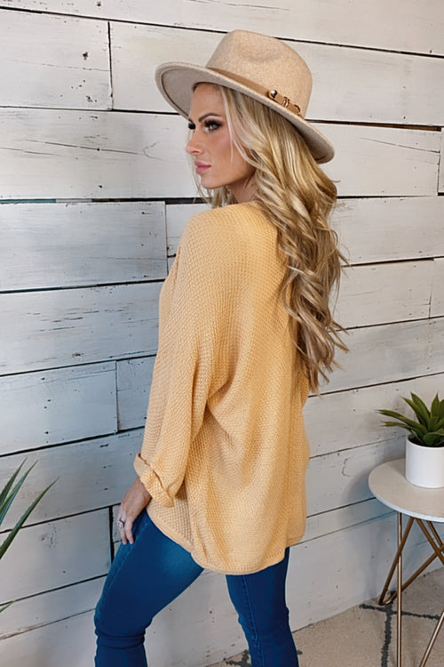 Loved By All Light Weight Knit Cardigan : Cantaloupe
