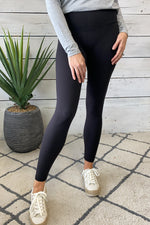 Mia Full Length Super Soft Brushed Leggings : Black