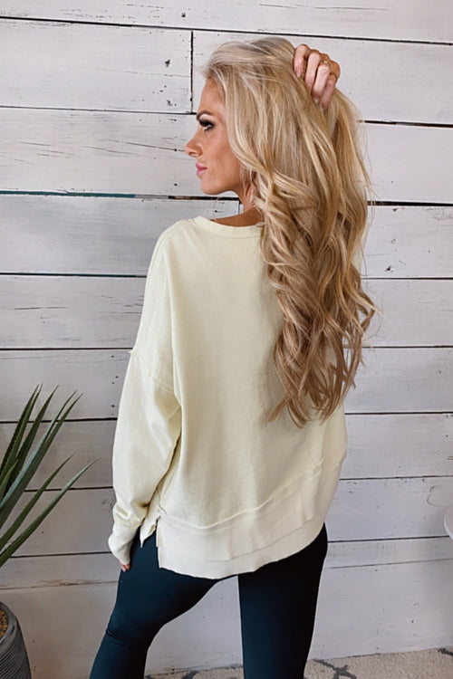 I'm Choosing Me Long Sleeve Pullover : Lime