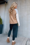 See You together Color Block Cardigan : Blk/H. Grey/Camel