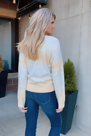 You Know I Adore You Color Block Sweater : Light Yellow