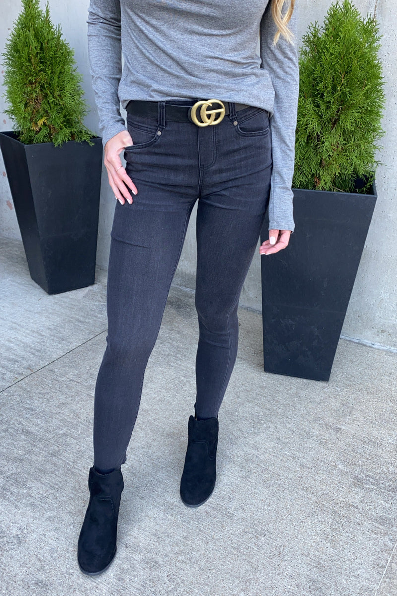 Liverpool Norris Gia Glider Ankle Skinny Jean : Black