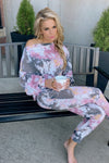Living Lazy Tie Dye Lounge Set : Ash Pink