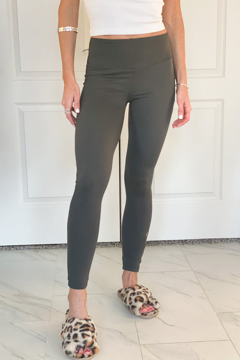 Be There Soon Brushed Microfiber Leggings : Grey