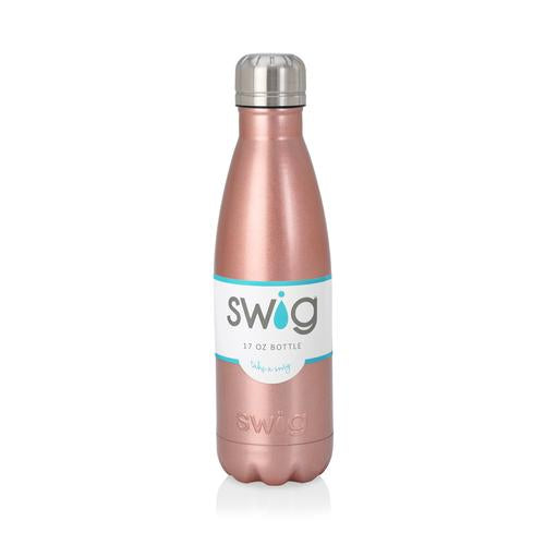 * Swig 17oz Water Bottle - Rose Gold