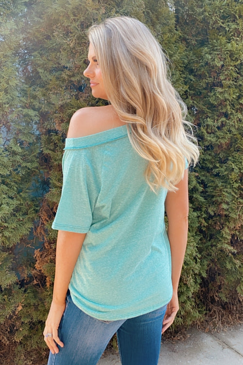 Patio Fun OTS Shift Pocket Tee : Jade