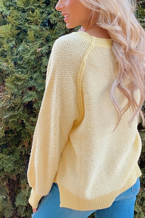 Simply Splendid Balloon Sleeve Pullover : Yellow