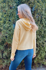 Stay Neutral Drawstring Hoodie : Yellow