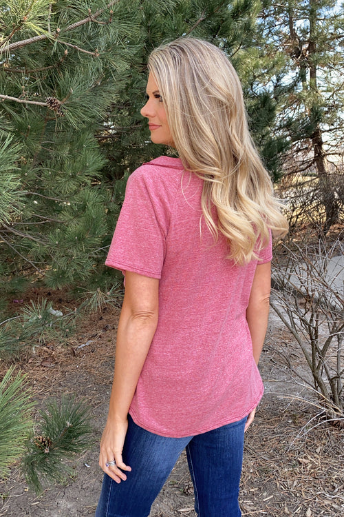 Patio Fun OTS Shift Pocket Tee : Brick Red