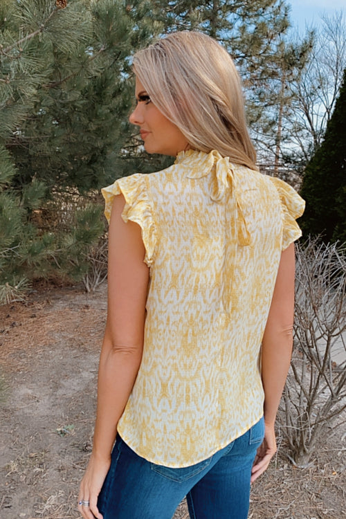 Endless Sunshine Flutter Tank : Yellow/White