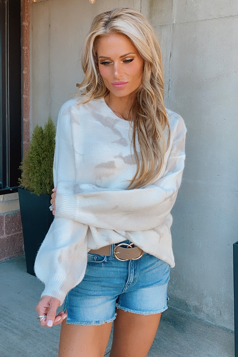 Marshmallow Fireside Sweater : Cream/Taupe