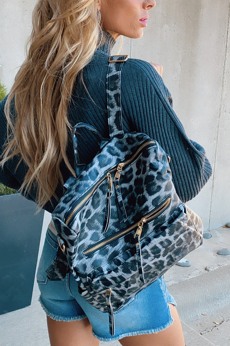 Sense Of Style Faux Leather Backpack : Leopard
