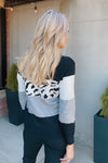 Chasing You Leopard Print Sweater : Black/Grey