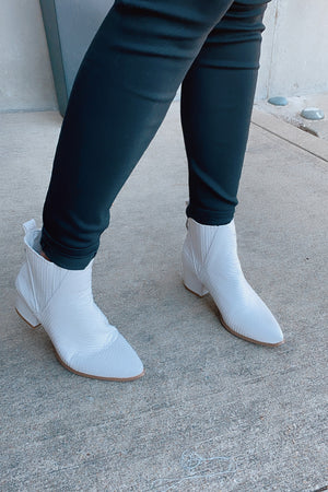 Very G City Ankle Booties : White