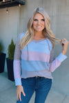 Love Without Limit Drawstring Top : Pink/Grey/Multi