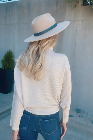 Make It Yours Dolman Sleeve Sweater : Cream