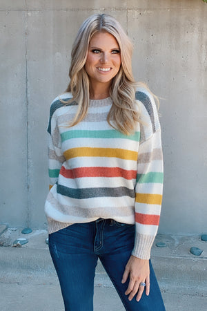Keep Your Cool Striped Sweater : Multi