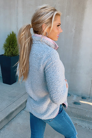 Snuggle Me Home Fuzzy Sherpa : Grey/Pink
