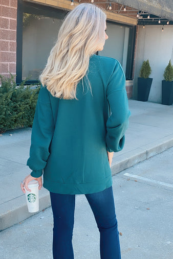 Snuggle Me Up Pullover : Deep Green