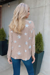 Stary Evening Long Sleeve Top : Mocha