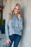 Speak To My Heart Cowl Neck Sweater : Heather Grey
