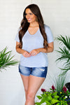 * Easy Breezy Pocket Tee : Blue