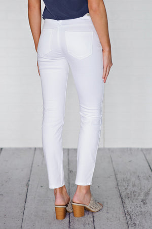 * Lexington Liverpool Ankle Skinny Jean : White