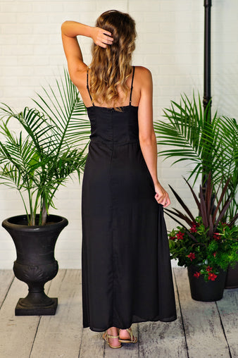 * Meet Me At The Gala Maxi Dress : Black