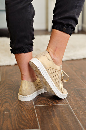 * Lex Comfy Sneakers: Gold