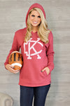 * Flint & Field KC Arrowhead Hoodie : Red