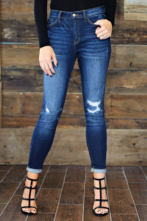 * Kellan KanCan Dark Distressed Jean