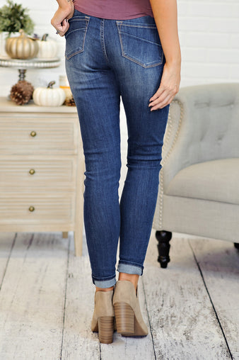* Gisele Dear John High Waisted Skinny: Dark Wash
