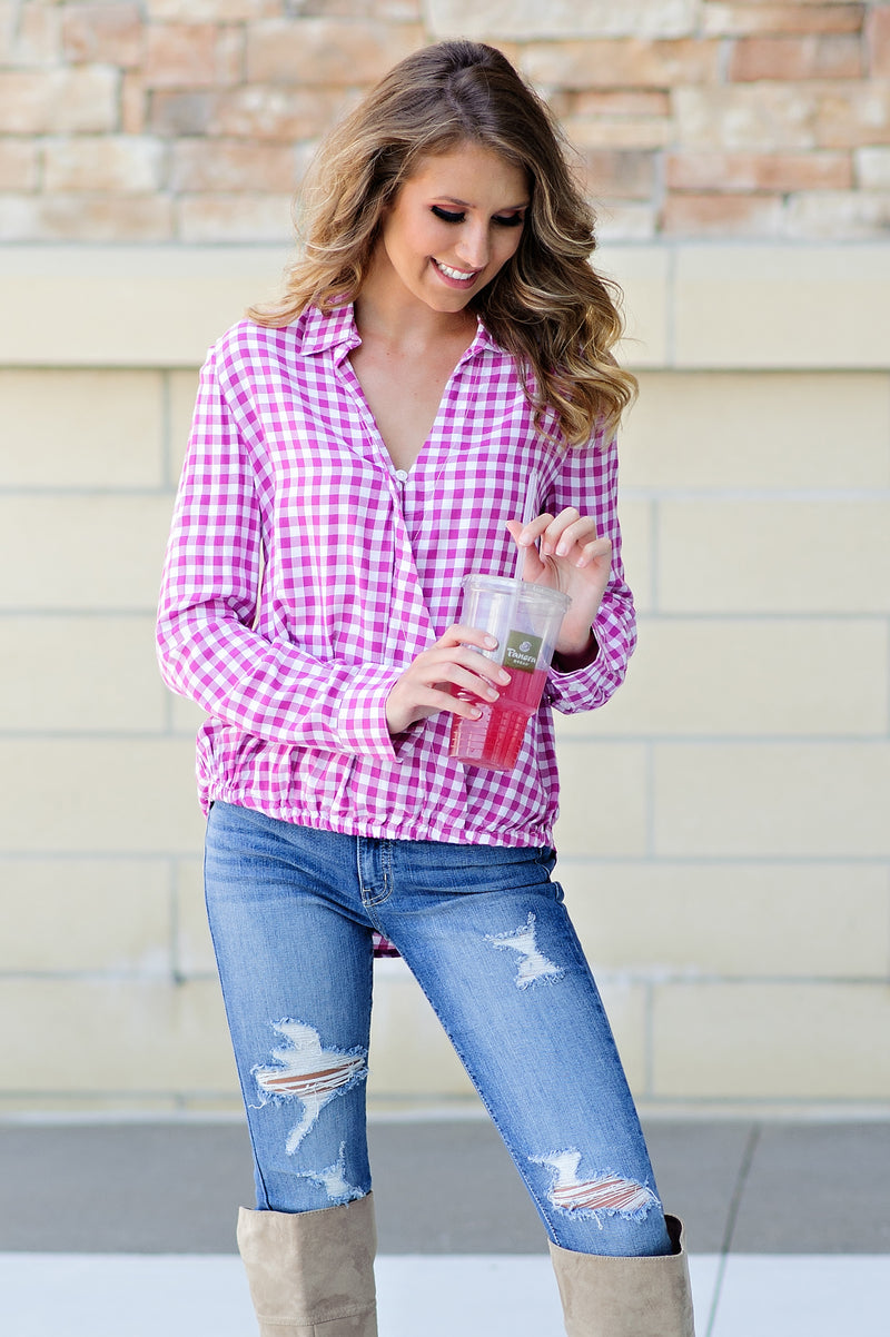 * Think Pink Plaid