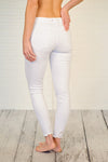 * Dear John Distressed Ankle Skinny Jean : Optic White
