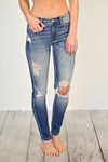 KanCan Lexis Irion Distressed Skinny : Medium Wash