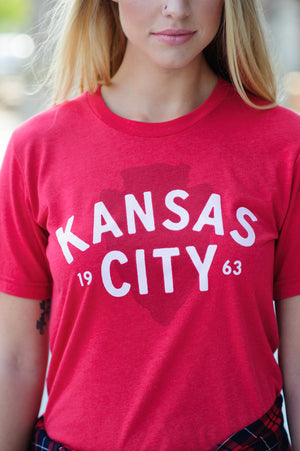* Flint And Fields Kansas City Arrowhead Tee : Red