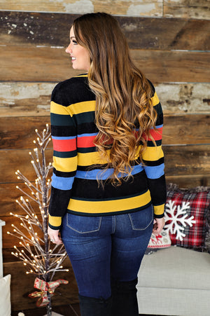 * Modern Romance Striped Sweater: Multi