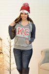 *  Bold KC Kansas City Hoodie : Vintage Grey