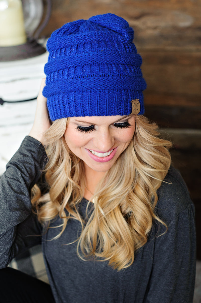 CC Beanie: Royal Blue