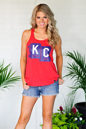 * Flint And Fields Flag KC Tank : Red