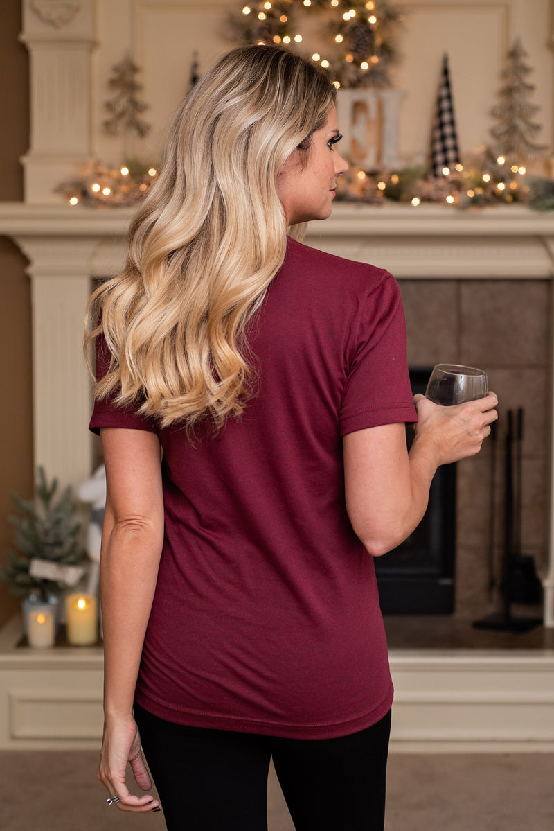 I'm Dreaming of a White Christmas : Burgundy