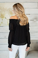Sweet Promises OTS Top : Black