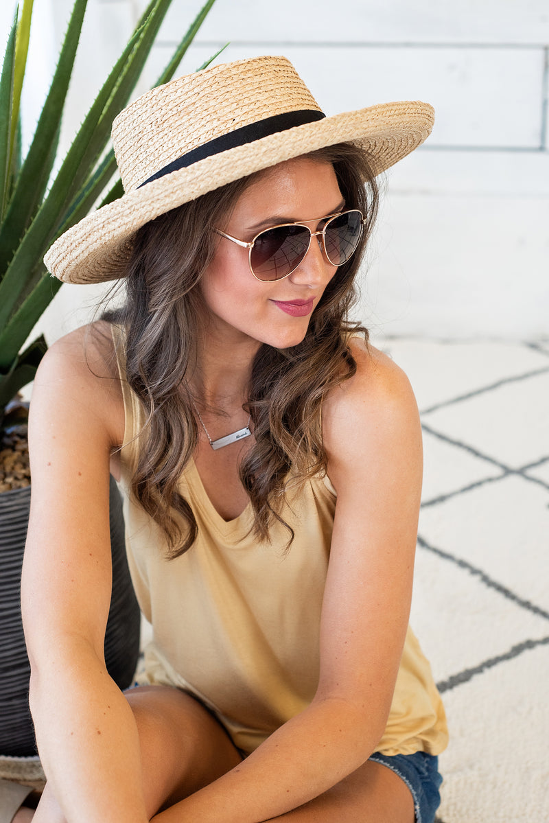 Tropic Occasion Straw Hat : Tan