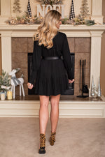 Cheers For Cozy Tunic Dress : Black