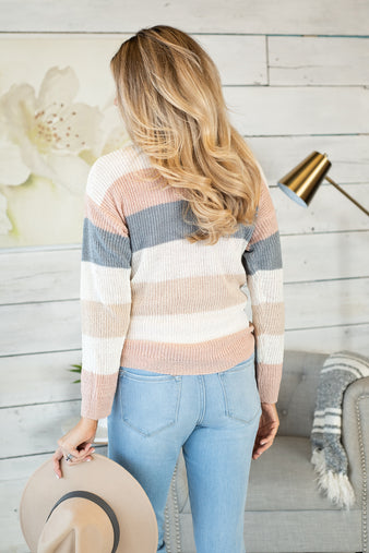 Definitely Maybe Striped Sweater : Cream Combo