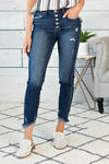 Grace Gemma High Rise Ankle Skinny Jeans : Dark Wash