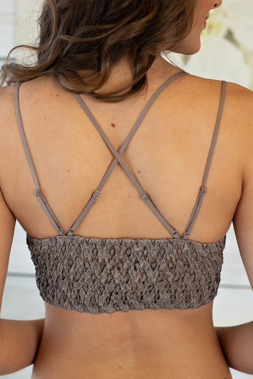 Finishing Touch Padded Bralette : Cocoa