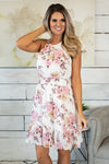 Arboretum Pathway Floral Dress : Blush