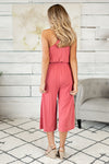 Summer Sway Knit Jumpsuit : Coral